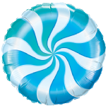"18"" Blue Candy Swirl Foil Balloon"